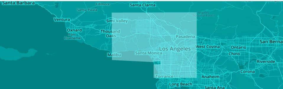 Los Angeles Lyft Coverage Map