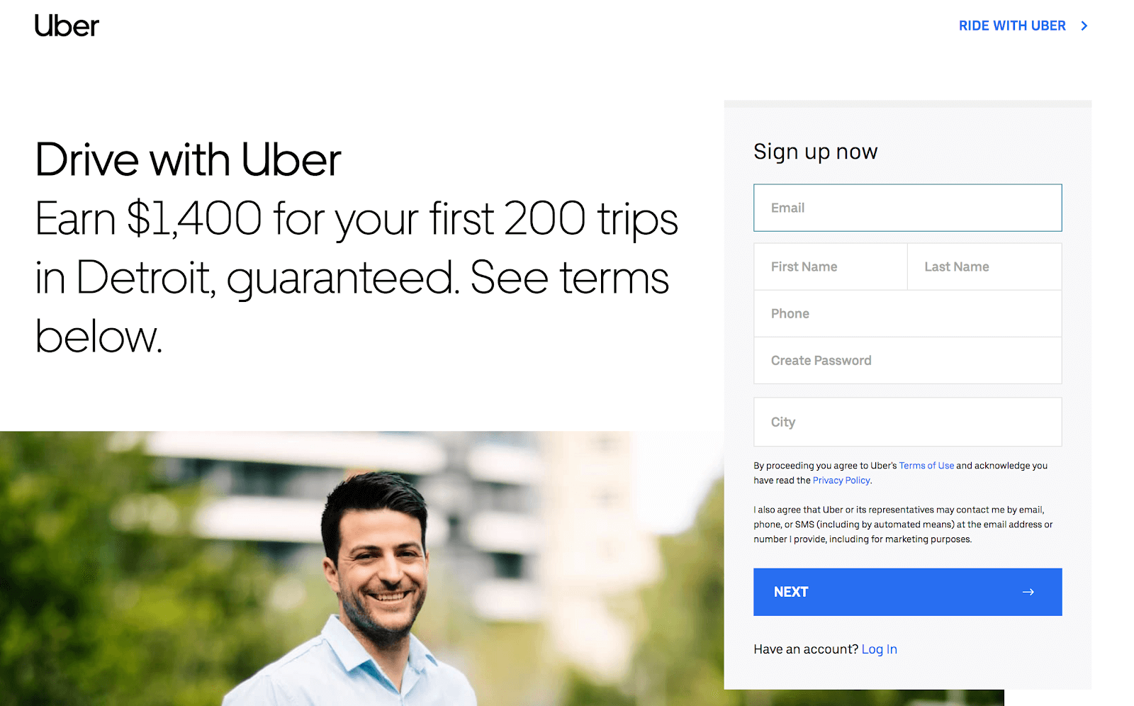 How to Become an Uber Driver: Step-by-Step Guide - Step 1