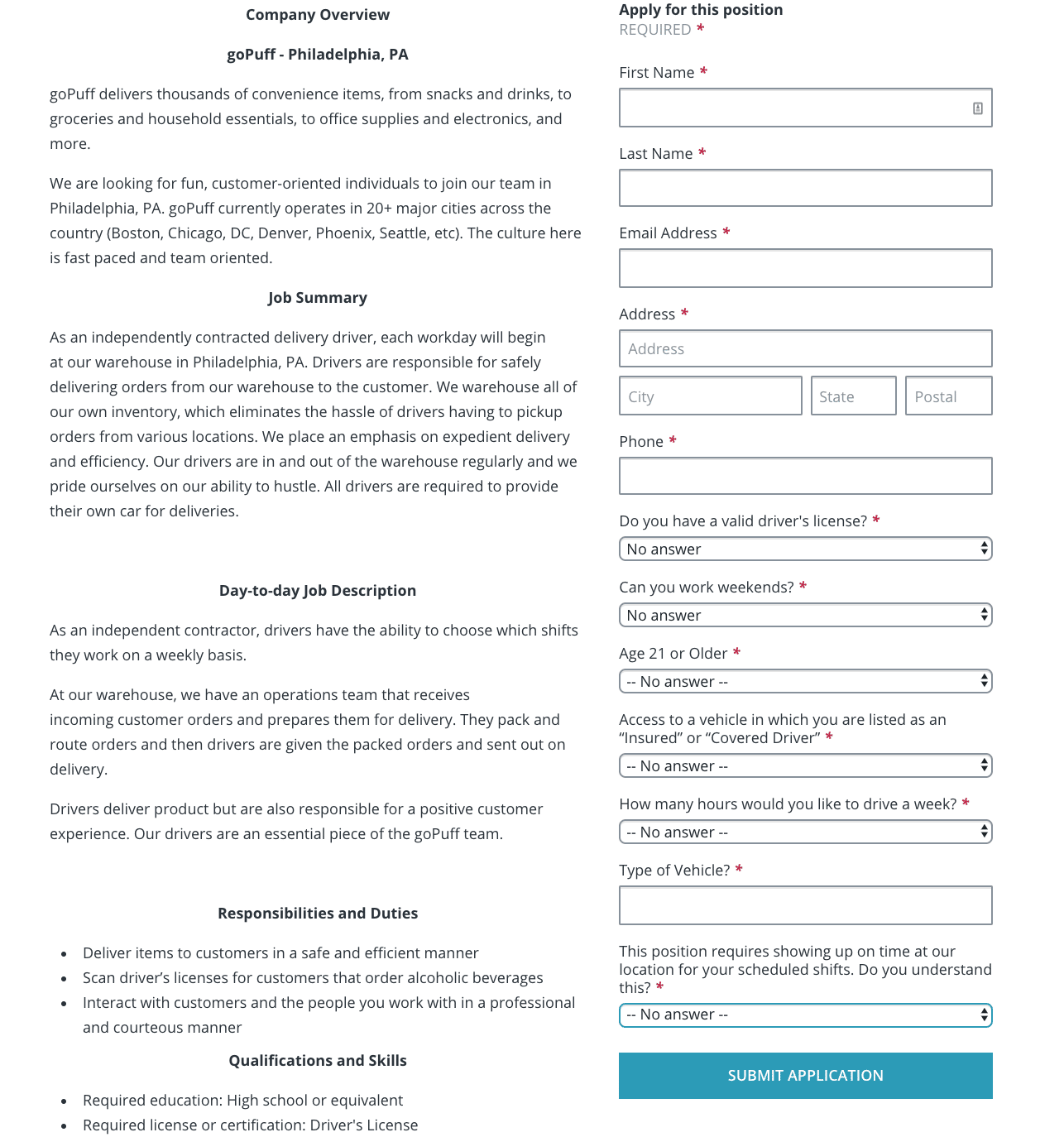 GoPuff Driver Requirements: How to Become a GoPuff Driver