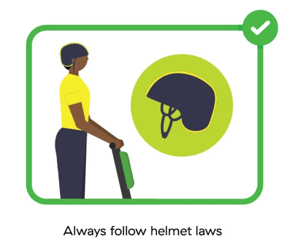 Lime Scooters: Everything You Need to Know Before Renting - Helmet laws