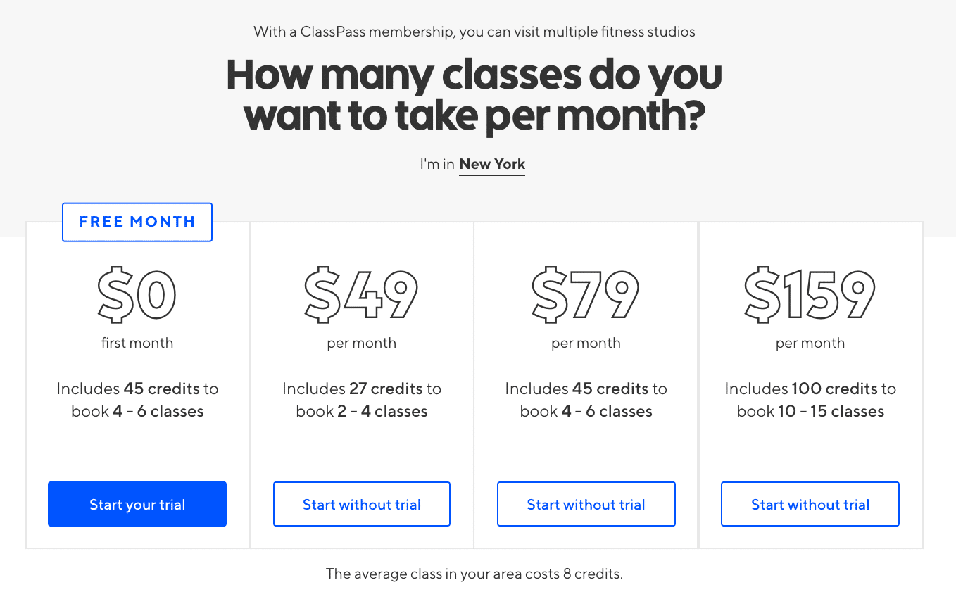 Fitness Classes Classpass Outlet Coupon Reddit May