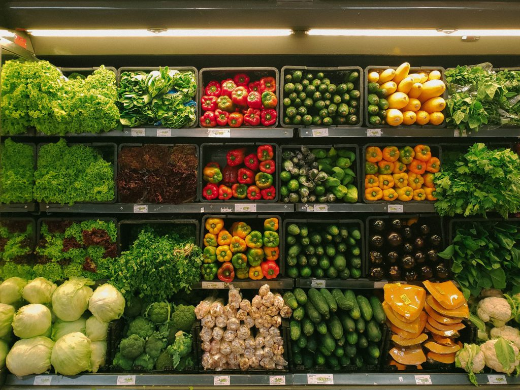 Peapod coupons: a grocery store produce section
