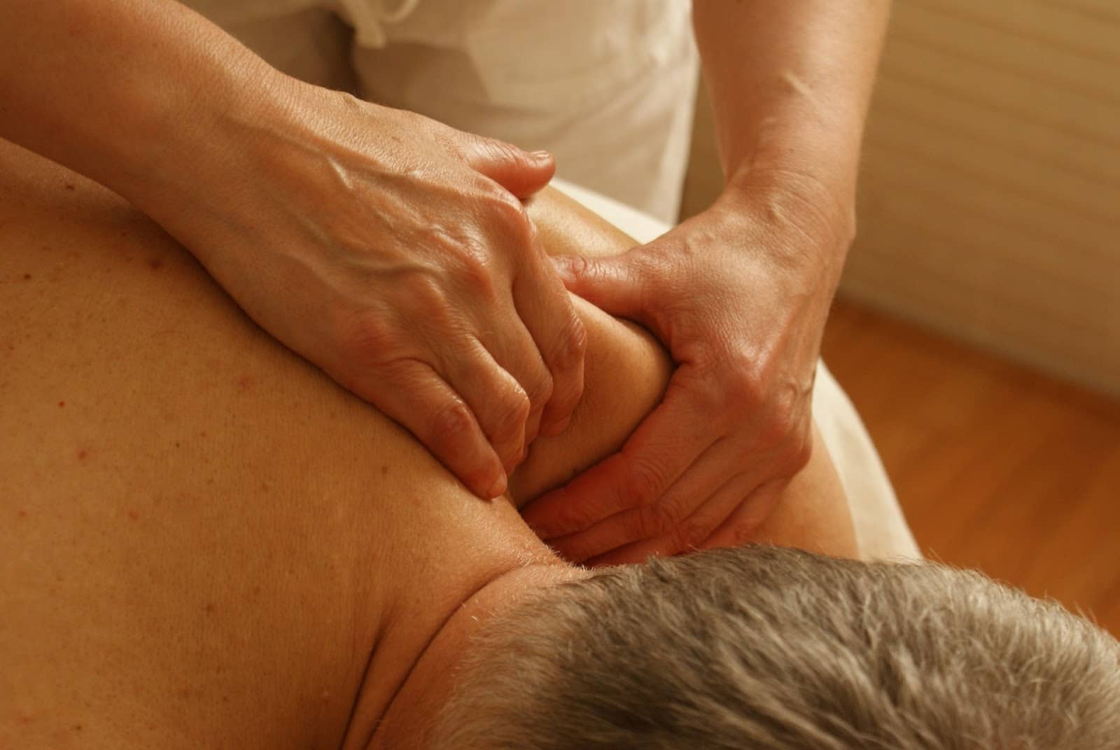 man getting a Zeel massage